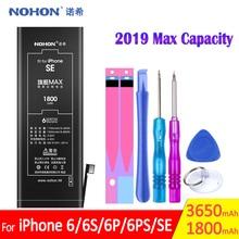 NOHON Pin Cho iPhone SE 6 6G 6S Plus 2019 Max Thay Thế Dung Lượng Cao IPhoneSE IPhone6 Điện Thoại Di Động bateria Free Dụng Cụ