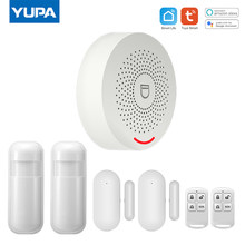 WIFI Intelligent Alarm Security System With Motion Sensor Smart Life&Tuya App Control Compatible With Alexa & Google Assistant