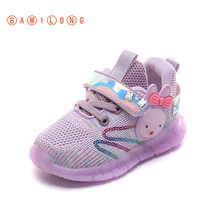 Children Sneakers Casual-Shoes Velcro Toddler Girls Breathable Fashion New Mesh S193