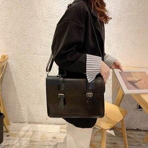 Image 4 - Luxury Women Crossbody Bag Female 2019 New Korean Fashion Shoulder Bag Ladies Trend big Buckle Messenger Bag Handbag