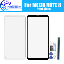 For Meizu note 8 Front Glass Screen Lens 100% New Front Touch Screen Glass Outer Lens for Meizu note 8 +Tools