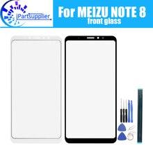 Meizu note 8 용 전면 유리 스크린 렌즈 Meizu note 8 + 용 100% 새 전면 터치 스크린 유리 외부 렌즈