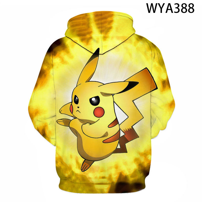 2020 Fall/Winter Pokemon 3d Printed Men's And Women's Hoodies Fashion Children's Cartoon Anime Sweatshirts All-Match Cool Coat 2