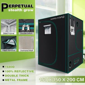 Mars Hydro 1680D 150x150x200cm Wachsen Zelt Wachsen Kit für Hydrokultur Indoor Gewächshaus