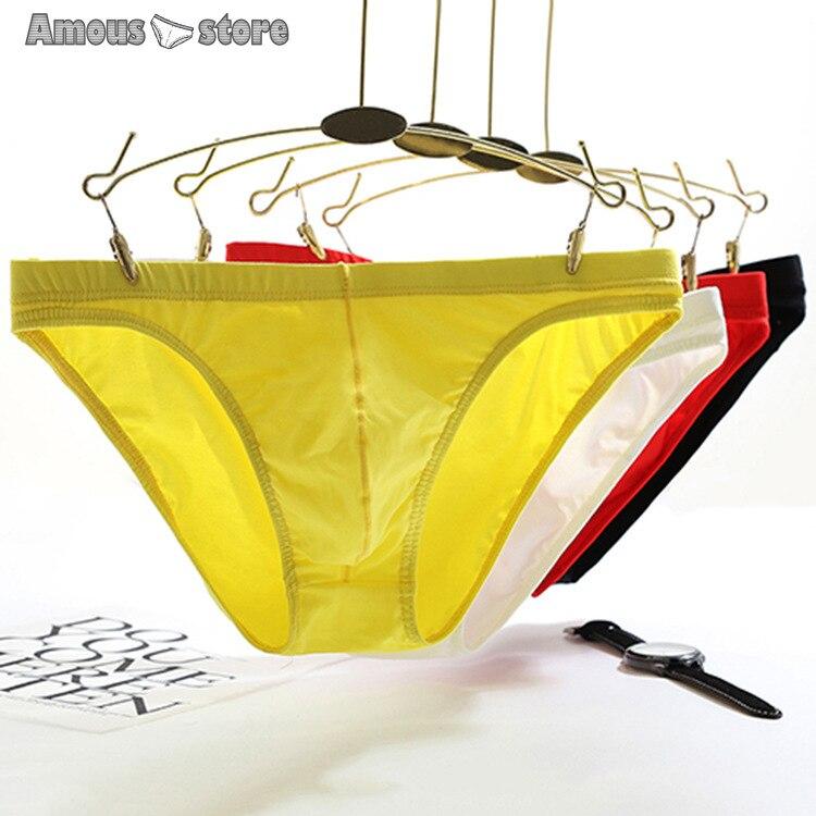 Men underwear cotton casual underpant male sexy briefs solid color shorts man pants panties wholesale