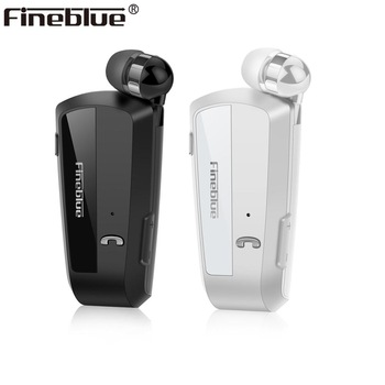 Fineblue F990 Newest Wireless business Bluetooth Headset Sport Driver Earphone Telescopic Clip on stereo earbud Vibration Luxury 1