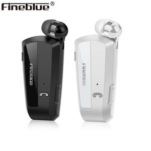 Image 1 - Fineblue F990 Newest Wireless business Bluetooth Headset Sport Driver Earphone Telescopic Clip on stereo earbud Vibration Luxury