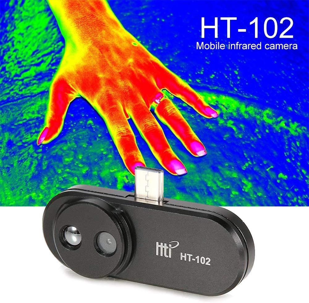 HT-102 мобильный телефон Термальность изображений Камера Инфракрасный Тепловизор для Android Тип USB-C Поддержка видео и фотографии Запись Новый