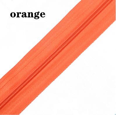 5 м длинная молния нейлон 3# пододеяльник подушка одеяло невидимая молния двойная молния черный и белый - Цвет: ORANGE