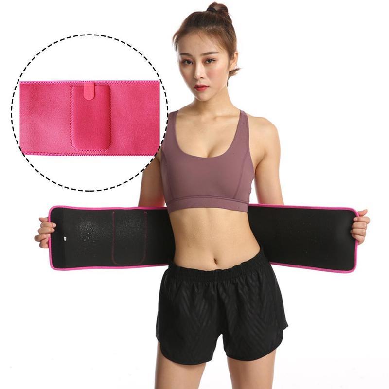 Women And Men Adjustable Elastic Waist Support Belt Running Yoga Corset Abdomen Belt Breathable Fitness Belt Waist Trainer