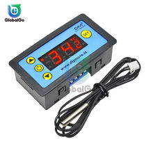 Controlador de temperatura Digital LED, 12V, 24V, 220V, CA, W3230, W3231, para incubadora, interruptor de calefacción de refrigeración, Sensor NTC