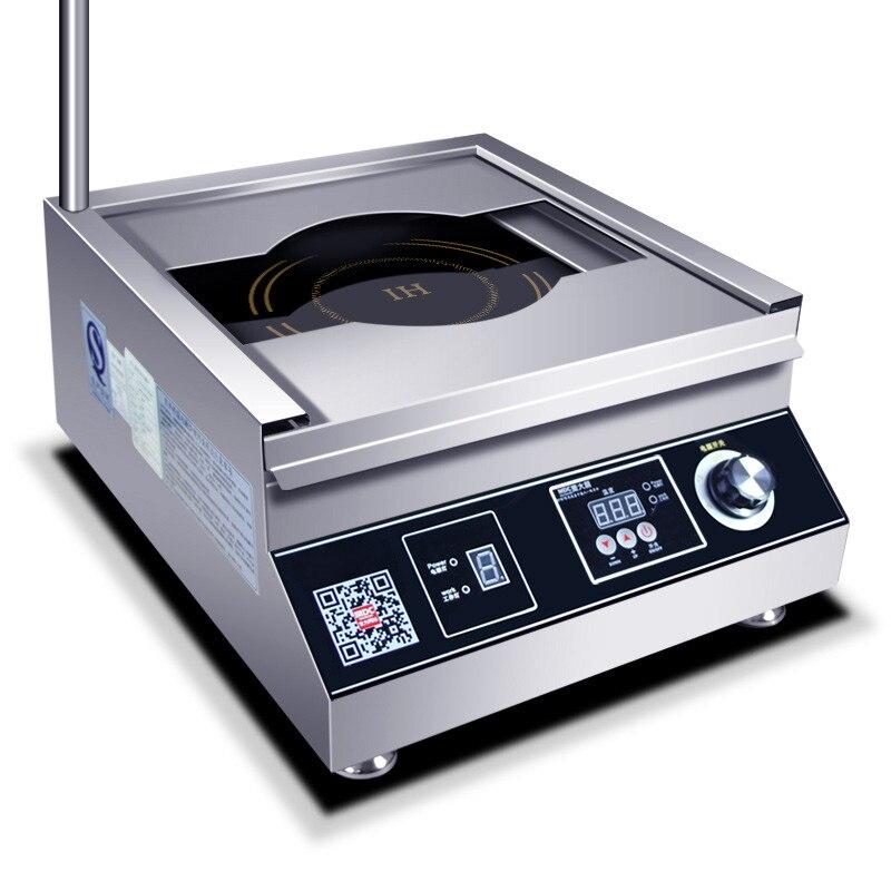Коммерческая индукционная плита 5000 Вт самолет Высокая мощность суп тушеная лапша плита Коммерческая электрическая плита ресторан столовая 380В 1