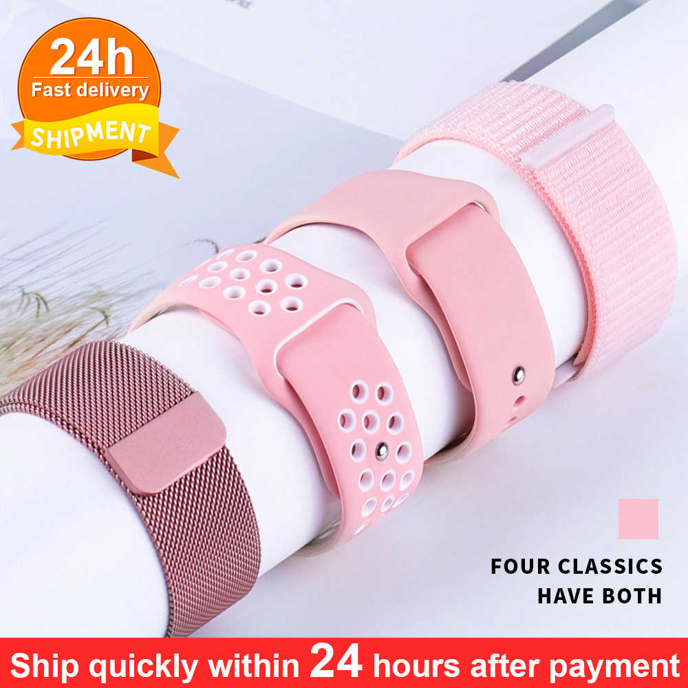 Milanese Silicone Dây Đồng Hồ Dây Đeo Cho Dòng 5 4 3 2 1 44 Mm 42 Mm 40 Mm 38mm Dây Đeo Đồng Hồ Vòng Tay Dây IWatch Phụ Kiện