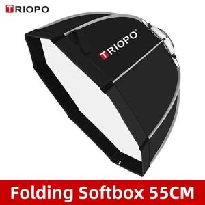 Image 1 - Triopo K55 55cm Photo Bowens monture Portable octogone parapluie extérieur SoftBox avec sac de transport pour Studio Flash Softbox