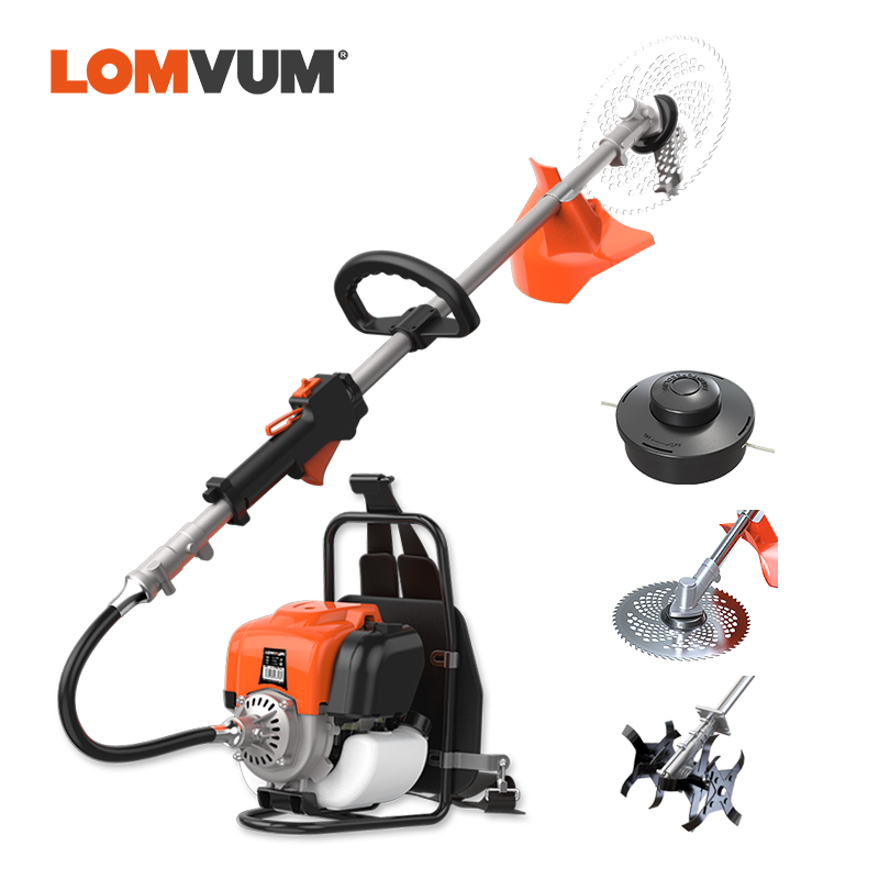 LOMVUM 4 STROKE Grass Trimmer Petrol Gas Type 1500W Multifunctional Farming Lawn Mower