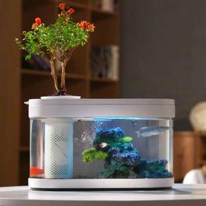 Image 5 - Xiaomi geometria aquário aquaponics ecossistema pequeno jardim de água ecológico aquário aquário transparente