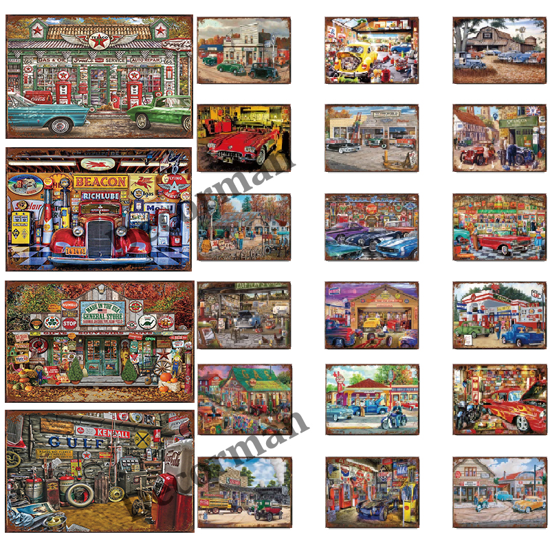 [ Mike86 ] Garage Store Motor oil Metal Sign Vintage Wall Posters iron Painting Gift art decor for Bar LTA-1741 20*30 CM(China)