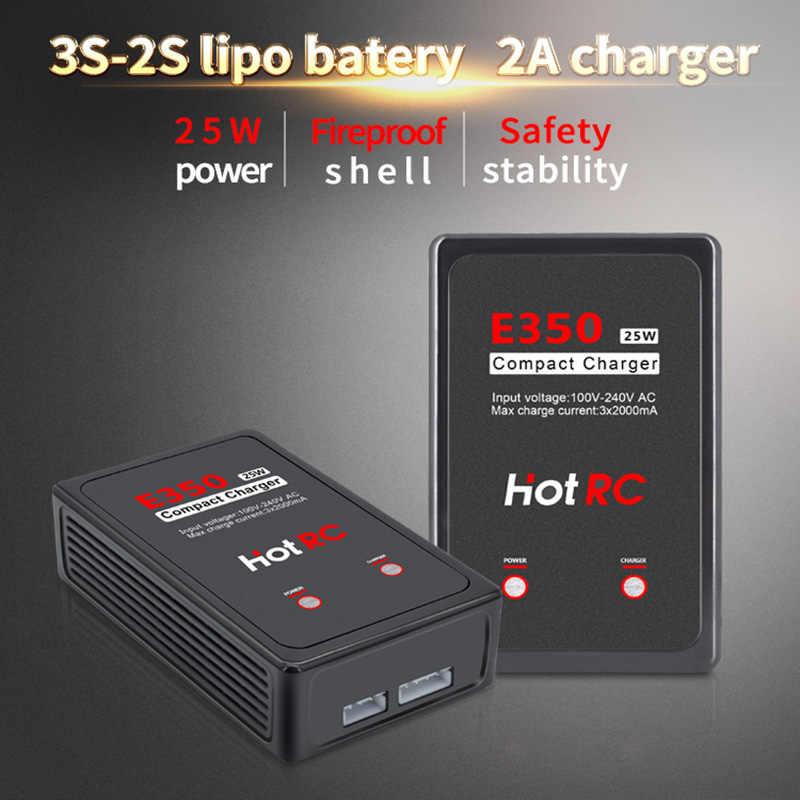 Hot RC E350 Pro 7.4 V/11.1 V Lipo Battery Charger 2 S 3 S Sel Charger 25W 2000mA untuk RC Lipo AEG Airsoft Baterai