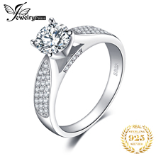 JewelryPalace CZ Solitaire Engagement Ring 925 Sterling Silver Rings for Women Anniversary Ring Wedding Rings Silver 925 Jewelry jewelrypalace vintage cz engagement ring 925 sterling silver rings for women anniversary ring wedding rings silver 925 jewelry