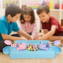 Baby Desktop Game Toy Parent-Child Interactive Swallow Colorful Beads Table Game To Eat Beans Board Puzzle Toy #m plastic toy baby birthday gift desktop funny game tabletop shoot football fossball family parent child interactive educational