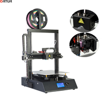 Ortur Factory 3D Printer AutoLeveling Pulley Version Linear Guide Aluminum Platform Plus Large Printing Size FDM Desktop Printer