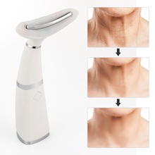Remove Double Chin Neck Device LED Photon Heating Therapy Anti Wrinkle Neck Care Tool Vibration Skin Lifting Tightening Massager