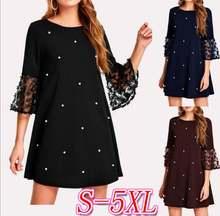 5xl сексуальное черное модное женское мини платье Весна Лето