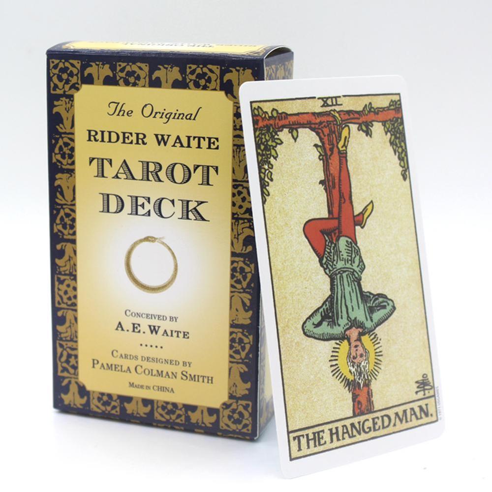 78 pçs o piloto original waite tarô deck completo inglês tarô cartas jogo tarô jogo de tabuleiro