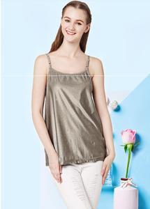 Лифчик из серебристого волокна с электромагнитной защитой от излучения, подтяжки, женское платье-комбинация для девочек, защитная одежда EMF