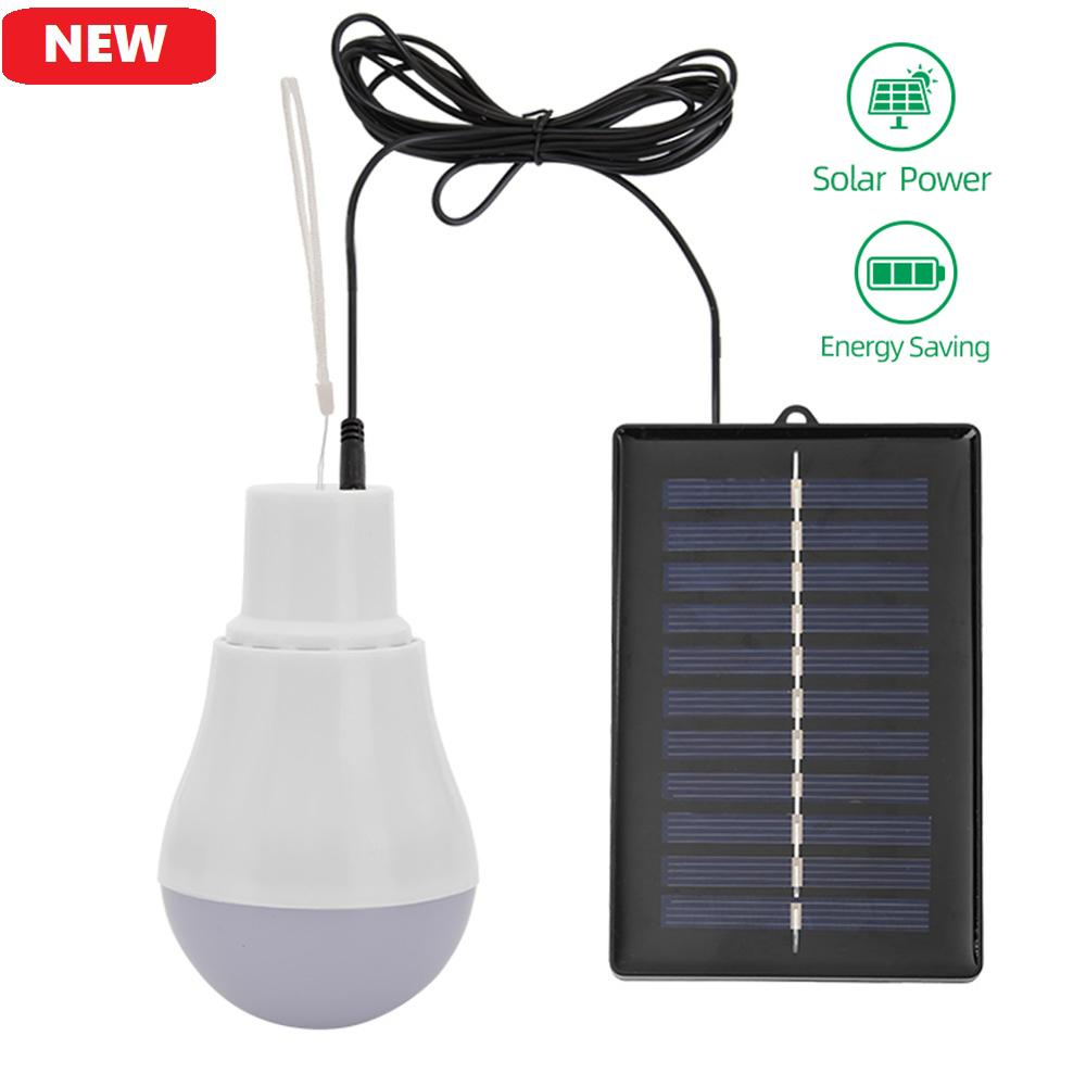 Portable Solar Light Outdoor Lighting 5V 15W USB Rechargable Led Bulb Energy Saving Emergency Lamp Tent Camping Light