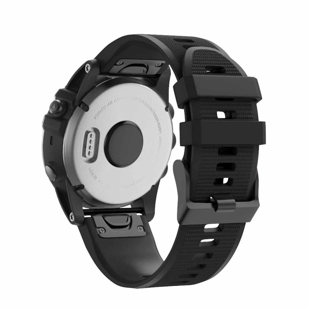 الإفراج السريع استبدال سيليكون سهلة صالح Wirstband ل Garmin Fenix 5X زائد ساعة ذكية الرياضة لينة سيليكون حزام 26 مللي متر 2019