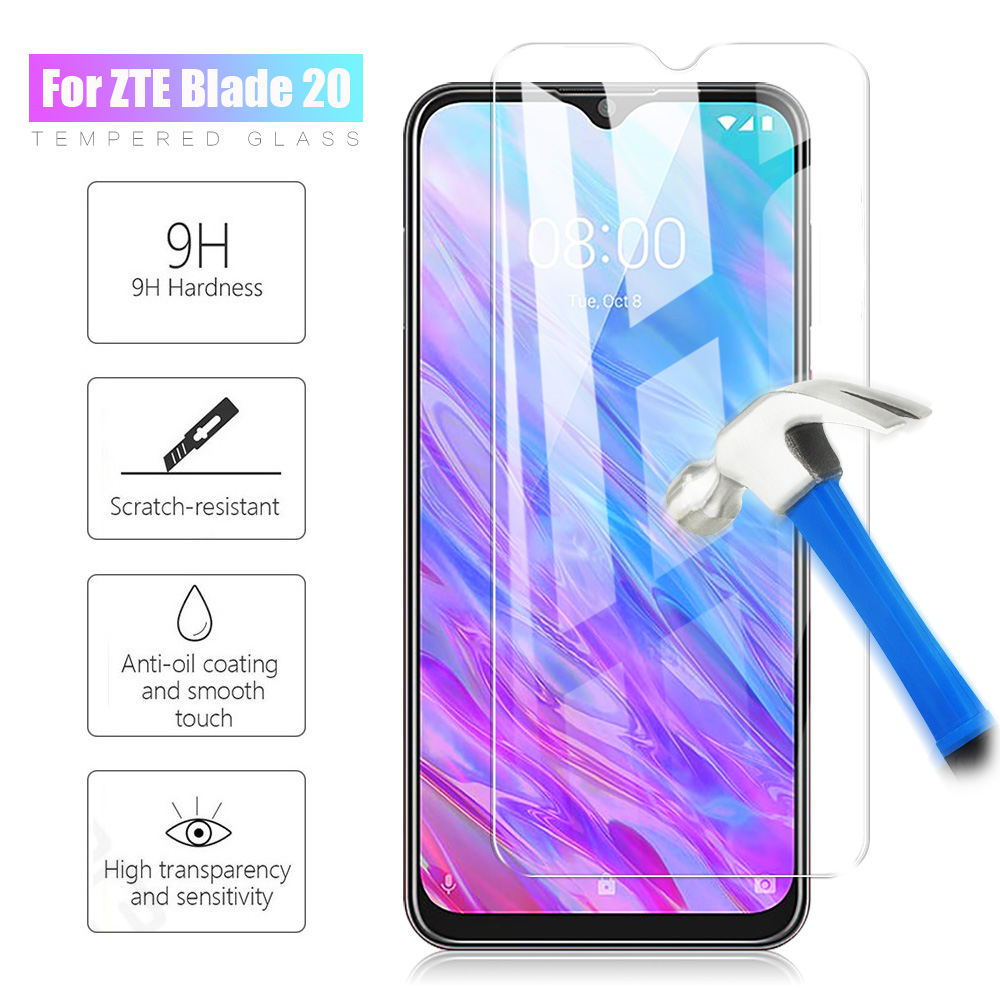 Tempered Glass For ZTE Blade 20 Smart Screen Protector For ZTE Blade 20 Smart 2019 V1050 9H 2.5D Explosion-proof Protective Film