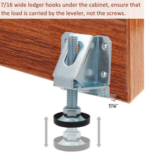 4PCS Carbon Steel Height Threaded Adjustable Leveling Glides Feet Heavy Duty Metal Leveling Feet For Furniture And Cabinet