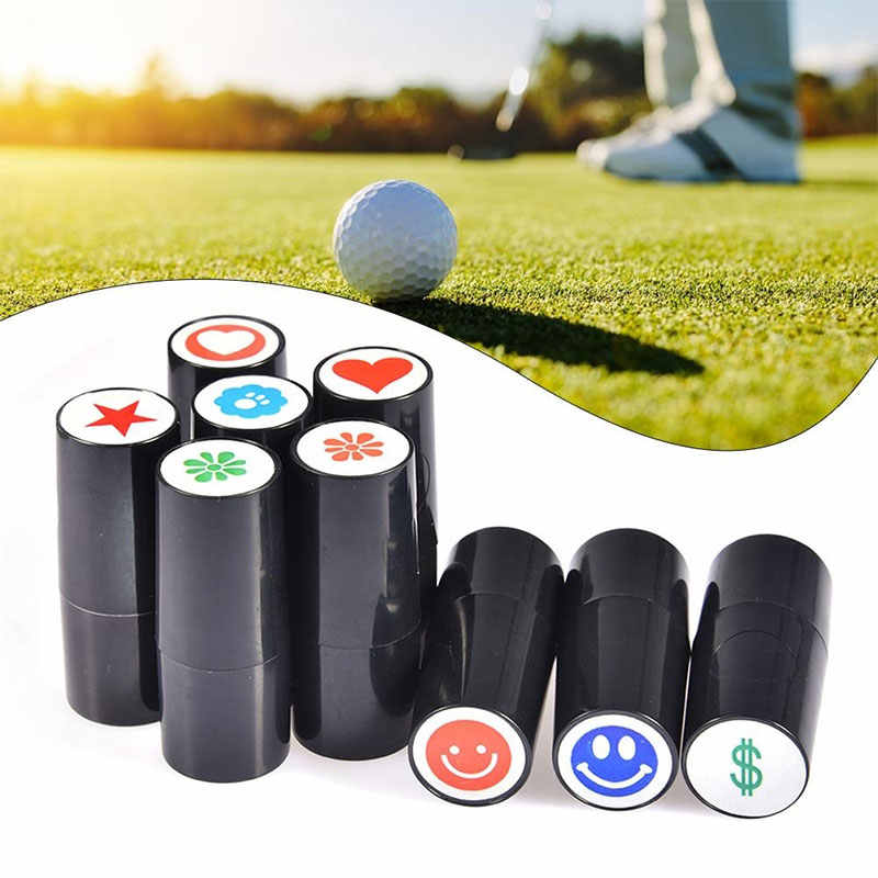 Golf Ball  Stamper 3 Color Romantic Sporting Stamp Stamper Golf Seal Outdoor Leisure Playing Action Correction Device