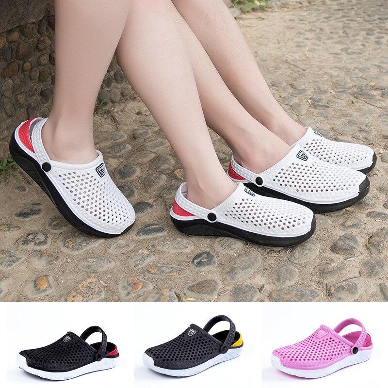 Unisex Fashion Clogs Summer Beach Breathable Non-Slip Sandals Garden Bath Slippers Shoes