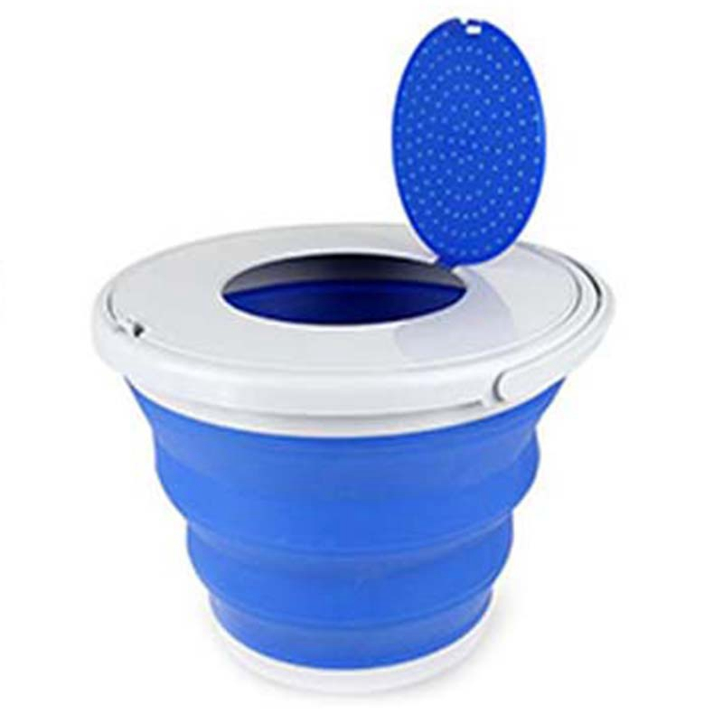 Portable Folding Bucket Foldable Basin Tourism Outdoor Folding Bucket with Lids Fishing Camping Car Wash Bucket Outdoor Camping Buckets     - title=
