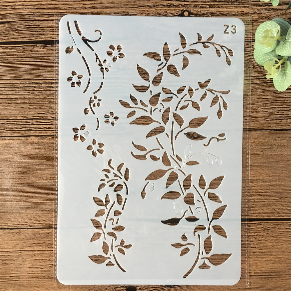 26*17cm Leaves DIY Layering Stencils Wall Painting Scrapbook Coloring Embossing Album Decorative Card Template