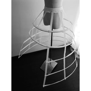Image 3 - Hollow Ruffled Bird Cage Fishbone Skirt Support Girls Cosplay Petticoat