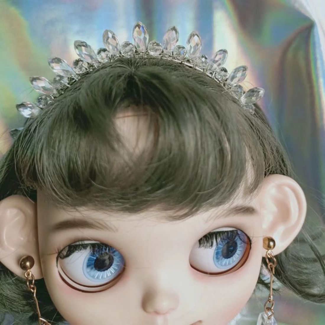 Modikerbjd 2020 Crystal Crown Headwear for Blyth Dolls - without Doll and Clothes