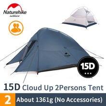 Nature randonnée nuage Up 2 tente de Camping Double personnes tente touristique ultra-léger 20D Silicone imperméable à l'eau en plein air randonnée tente NH17T001-T