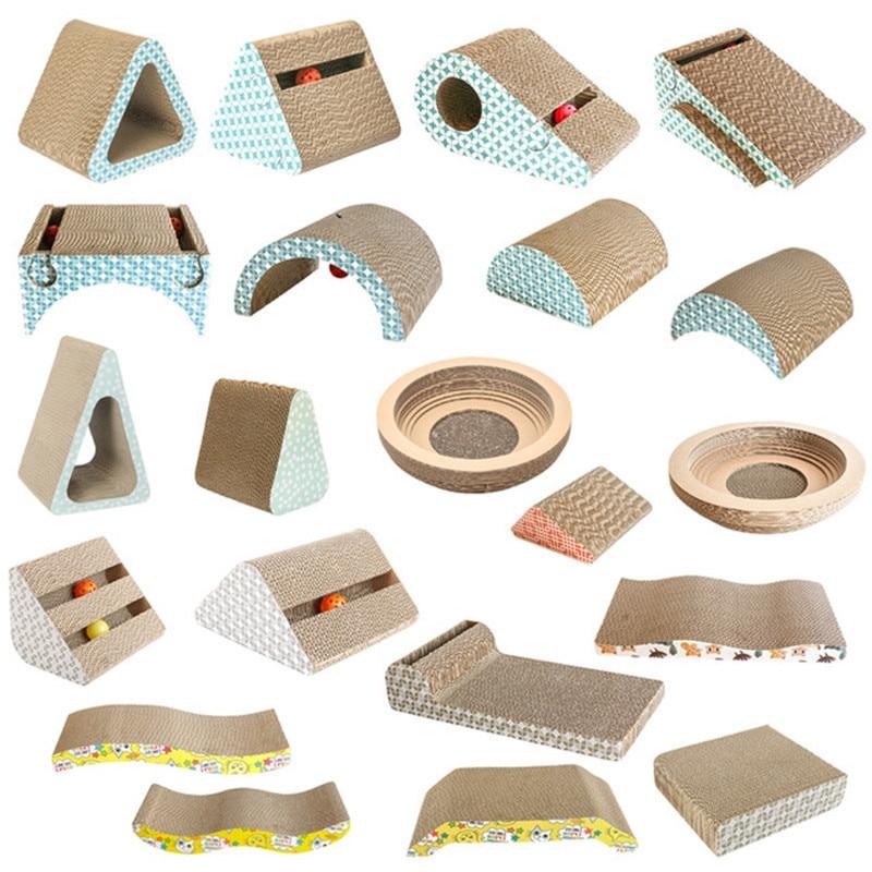 Pet Cat Scratcher Grinding Claw Plate Scratching Pad Corrugated Paper Board Cat Scraper Mat Toys Catnip Cardboard Pet Supplies