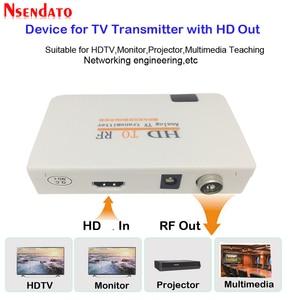 Image 1 - Analog TVเครื่องส่งสัญญาณHD To RF HDวิทยุความถี่สัญญาณHD Modulatorกล่องConverterพร้อมRemomeควบคุมซูมสำหรับHDTV PC