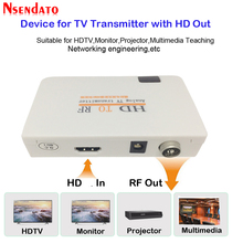 Analog TV vericisi HD RF HD radyo frekansı sinyal HD modülatör kutusu dönüştürücü Remome kontrol zoom HDTV için PC
