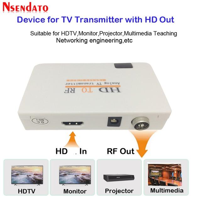 Telewizja analogowa nadajnik HD na RF HD na sygnał częstotliwości radiowej HD Modulator Box konwerter z pilotem zoom dla HDTV PC