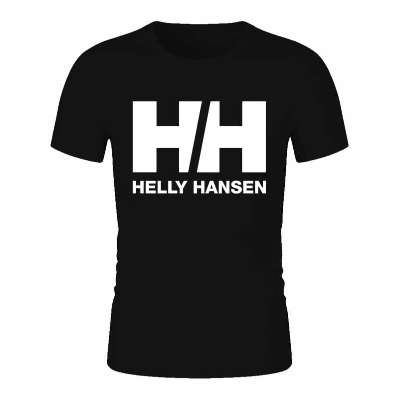 Helly Hansen Women and Man 2019 New hombre Printing Casual T-shirt Fashion Tshirts Modal Tees Top friend hely tshirt 100% cotton