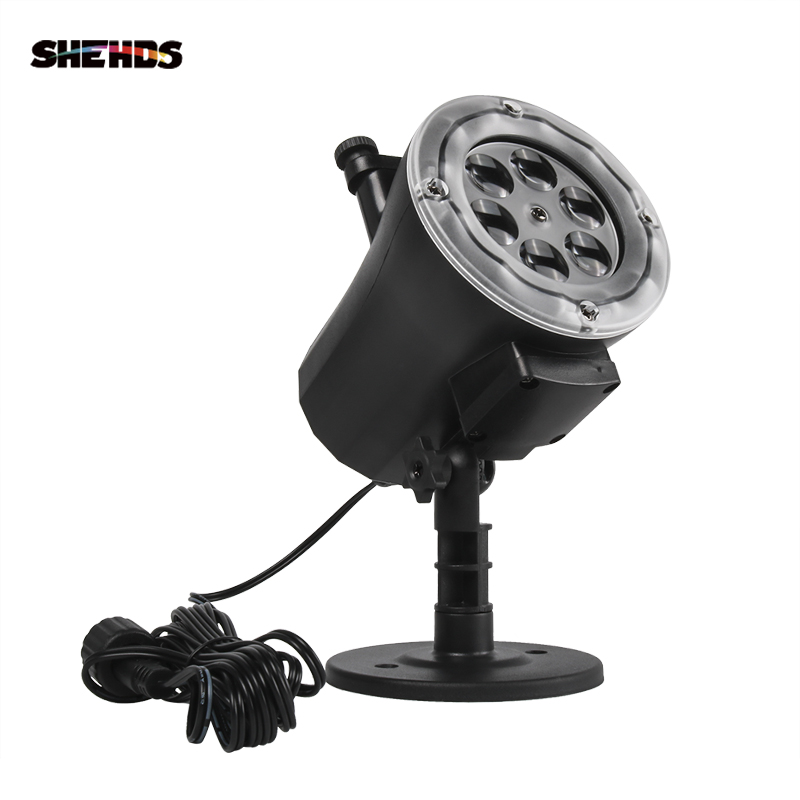 SHEHDS Lighting Design Remote Control LED Change Shape Card Projector 4IN1 RGBW Best For Christmas/Halloween