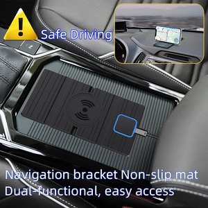 Image 4 - 15W Silicone Wireless Car Charger Pad Foldable Fast Charging Base Station Non Slip Phone Stand Holder for iPhone X XS 11 Huawei