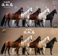 IN stock 1/12 Scale JXK013 Hannover Horse Warmblood Anime Statue Palm Figure Toys with Harness Collectible Fit 6'' Figure doll