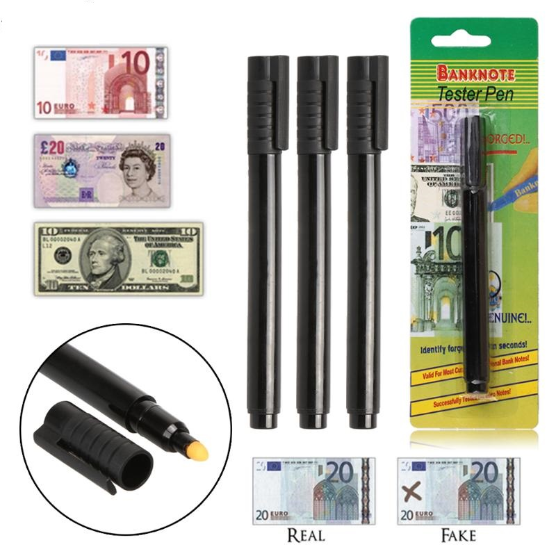 10 Pcs/lot  Banknote Tester Pen Suitable For Most Of Paper Currency Detecting The Counterfeit Bill (Money Detector)