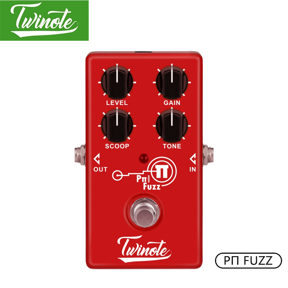 Twinote Fuzz Mini Guitar Pedal With FET Circuit Simulate Ture Tube Sound For Guitar Accessories For Scoop Knob Adjusts image